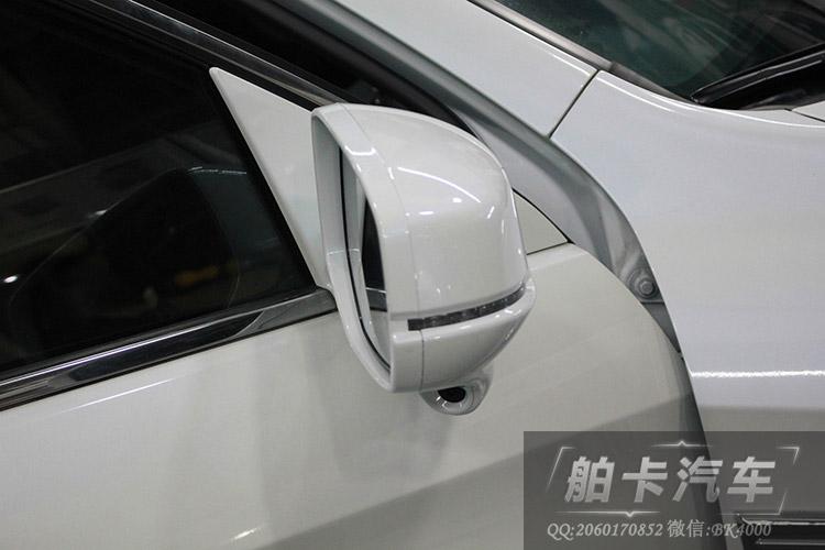 电动后视镜折叠,可一起加了自动折叠控制盒,遥控锁车自动后视镜折叠